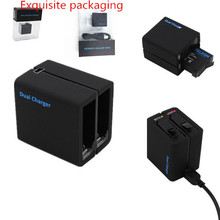 2016 New Arriver High Quality Gopro Accessories Gopro Hero 4 Dual Battery Charger For Go pro Hero 4  AHDBT-401 Battery Charger(China (Mainland))
