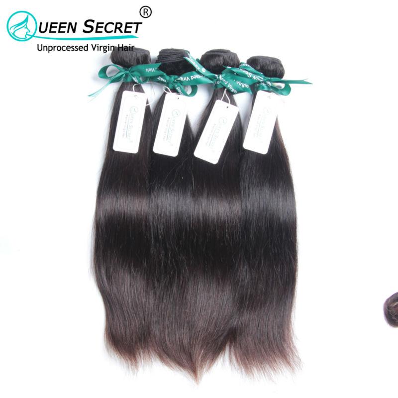 Queen Secret Full cuticle hold 1pc a lot Brazilian straight cheap 100% human hair Free shipping unprocessed 6A virgin hair