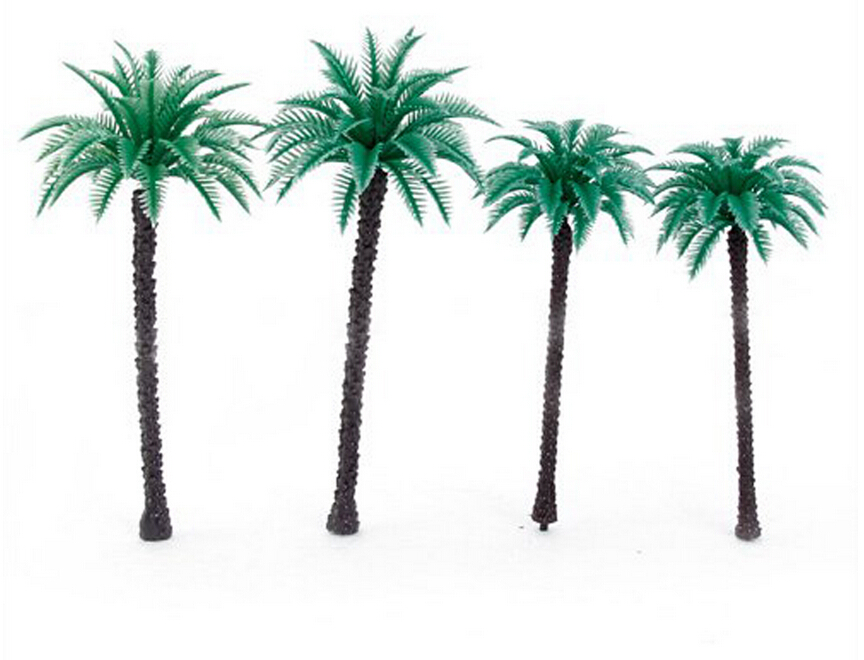High quality All kinds of  Plastic palm tree model artificial palm tree leaves for sea scenery<br><br>Aliexpress