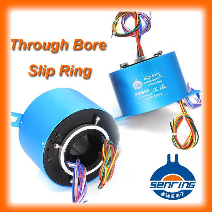 Through hole slip ring 6 wires each 5A with bore size 38.1mm(1.5'')(China (Mainland))