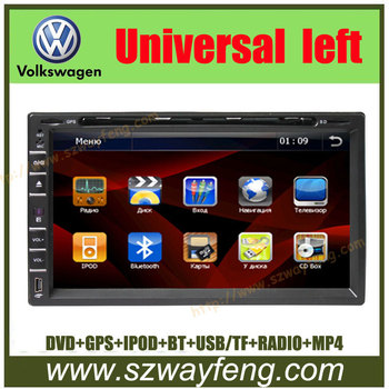 Special Car DVD for Universal 2 DIN with digital screen,GPS dual zone, bluetooth, TV, Radio, OSD touch/USB/SD, Ipod input