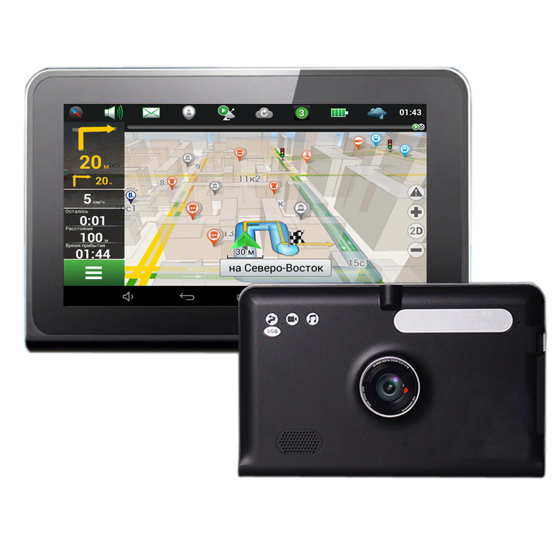 7 inch Capacitive Screen GPS Navigation Android 4.2.2 System Tablet PC WiFi Car DVR Camera Full HD 1080P Bulit-In FM(China (Mainland))