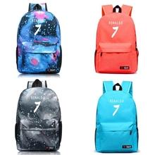 High Quality New Fashion 7 Color Ronaldo Soccer Football Backpack Boy Girl School Bag For Teenagers Sports Bag Canvas Backpacks