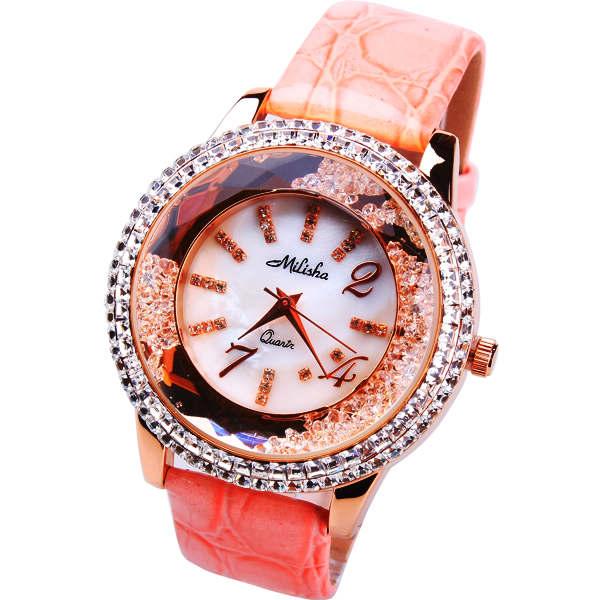 Milisha genuine leather diamond quality strap watch quality ladies watch 160318<br><br>Aliexpress