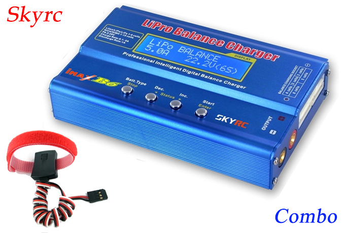 SKYRC IMAX B6 professional balance rapid charger / discharger + temperature sensor combo for RC lipo life lilon battery charging(China (Mainland))