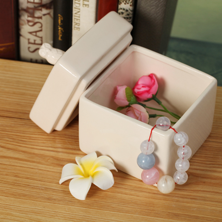 Grocery gift outside the single simple solid color wholesale A86 ZAKKA cute ceramic jewelry box jewelry storage box(China (Mainland))