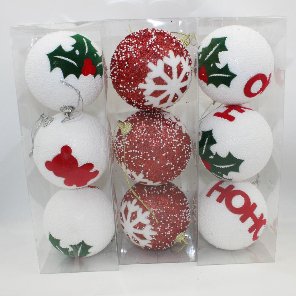 New 8cm christmas foam ball christmas tree ornaments Latest christmas decorations