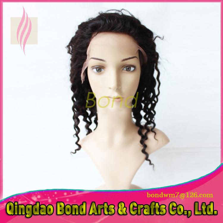 Brazilian Virgin Human Hair Kinky Curly Lace Front Wigs 130 Density Afro Glueless Full Black Women - Bond store