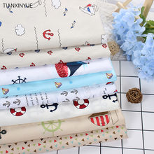 Twill 8 pcs Ocean anchor series Cotton Fabric DIY Patchwork Sewing Kids Bedding Bags Cloth Textiles Sailing Fabric 40*50cm(China (Mainland))