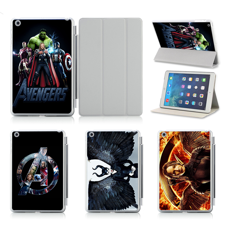 Customize Print Idea UV Print Flip Protective Shell/Skin For Apple IPad Air 2 Case Cover!Maleficent The Avengers Hunger Games(China (Mainland))
