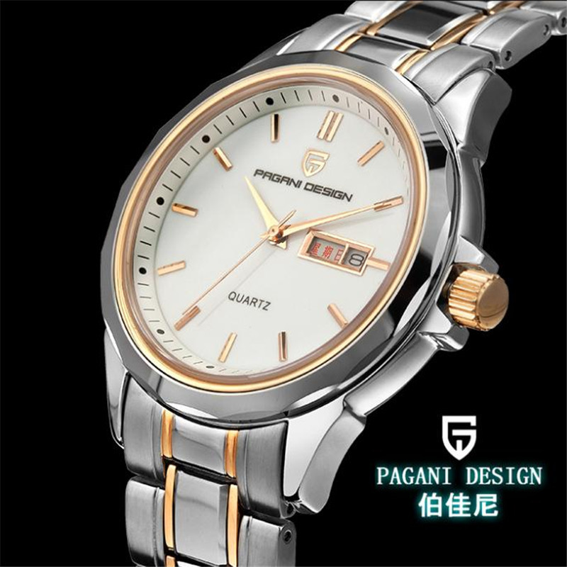 Pagani Design Dual calendar quartz couple tables on the table between male and female gold luxury watches (RS-3204M)<br><br>Aliexpress