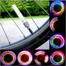 Buy New Bike Light Tyre Tire Valve Caps Lights MTB Spokes 32 color 5 LED Wheel Cycling Mountain Road Bicycle Flash Light for $1.19 in AliExpress store