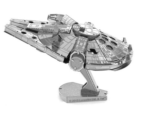 3D Metallic Nano Puzzle Kids Educational Toys DIY Millennium Falcon Metal Jigsaw Model,Free Shipping(China (Mainland))
