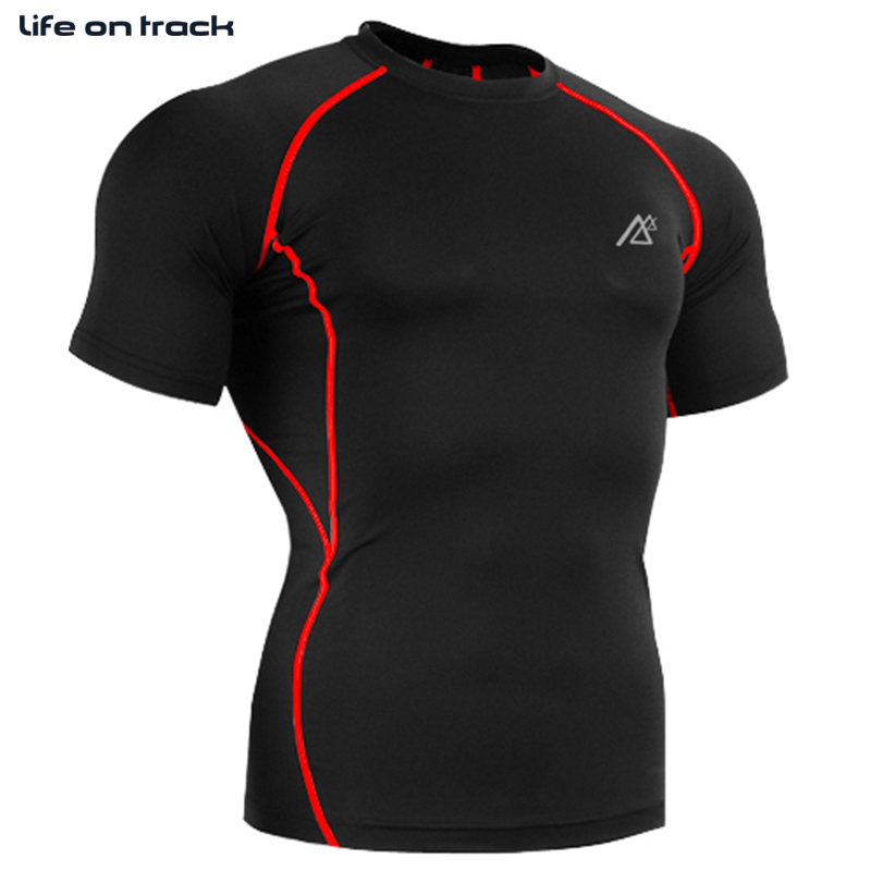 2015 Hot Male Breathable Sports Jersey Quick-drying Tight-fitting Type Fitness Clothing For Outdoor Running Short Tight T-shirt(China (Mainland))
