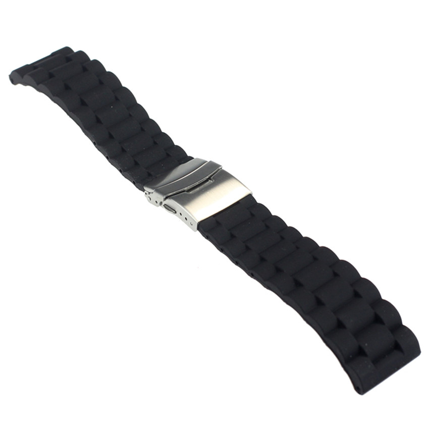 Waterproof Fashion Mens Silicone Rubber Jelly Watch Band Casual Sport Watches Relacement Strap Deployment Clasp Watch Straps(China (Mainland))