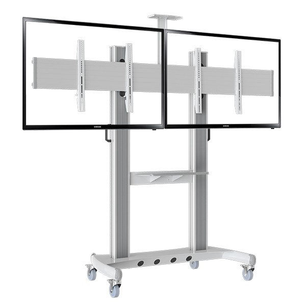 """Heavy Duty Dual Screen TV Mobile Cart NB AVT1800-60-2A 40""""-60"""" LED LCD Plasma TV Trolley Stand With AV Shelf And Camera Holder(China (Mainland))"""