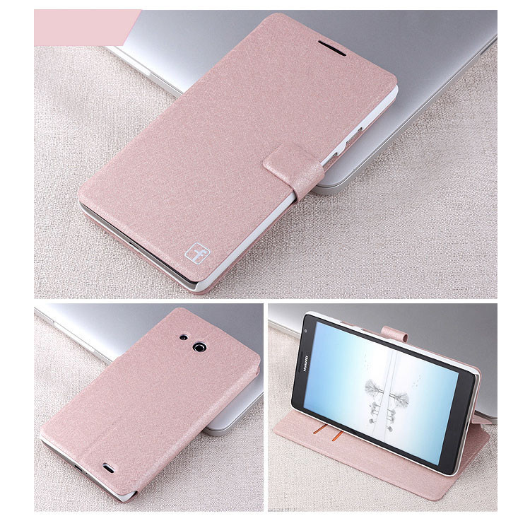 New Fashion Ultra thin silk Huawei Mate Case Huawei Ascend Mate 6.1 Cover MT1 U06 Case X1 With 2Card Holder Stand Case(China (Mainland))