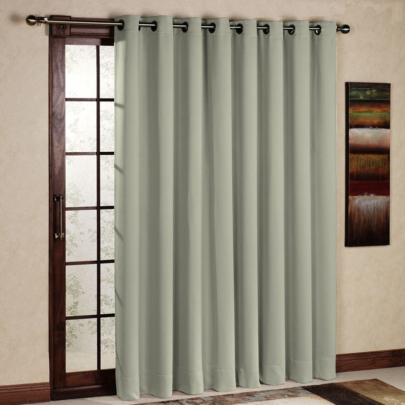 One Piece Modern Style Blackout Thermal Insulated Curtain/Drape/Panel Grommet Top for bay window balcony proch (Ivory)(China (Mainland))