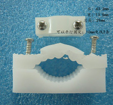 Wire holder cable clamp retaining clip clamp pressure pressure line board white medium 100 onwards