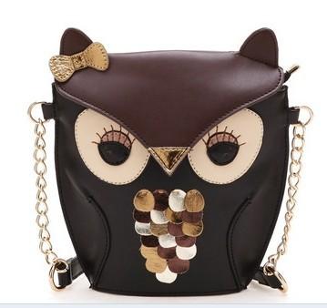 Fashion Hot Promotion women handbag cartoon bag owl fox shoulder bags women messenger bag(China (Mainland))