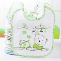 1 Piece Color Random Cute Baby Bib Cartoon Cute Infant Saliva Towels Newborn Wear Burp Cloths