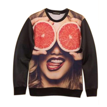 Couple Sweater 3D belle oranges Sweatshirt Pullover Top Jumper(China (Mainland))