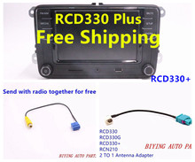 "Free Shipping RCD330G Plus RCD330 RCD510 RCN210 Car 6.5"" MIB UI Radio For Golf 5 6 Jetta CC Tiguan Passat(China (Mainland))"