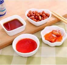 4Pcs/set Ceramic Plate cartoon relish porcelain plate round square heart shaped Irregular sauce vinegar flavored free shipping(China (Mainland))