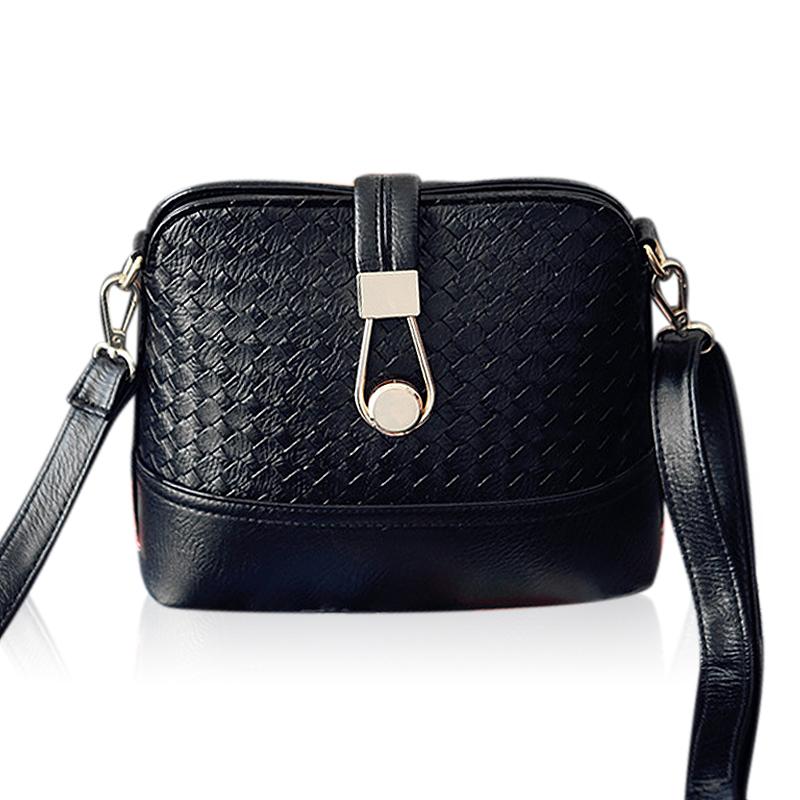 VEEVAN 2016 Women Messenger Bags Black Emboss Shell Small Crossbody Bags Single Shoulder Bags Fashion Leather Ladies Handbags<br><br>Aliexpress