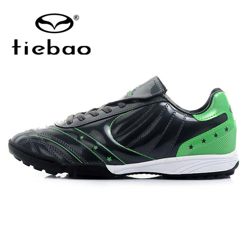 TIEBAO Professional Outdoor Soccer Shoes TF Turf Rubber Sole Football Boots Men Women Athletic Training Shoes crampons de foot(China (Mainland))