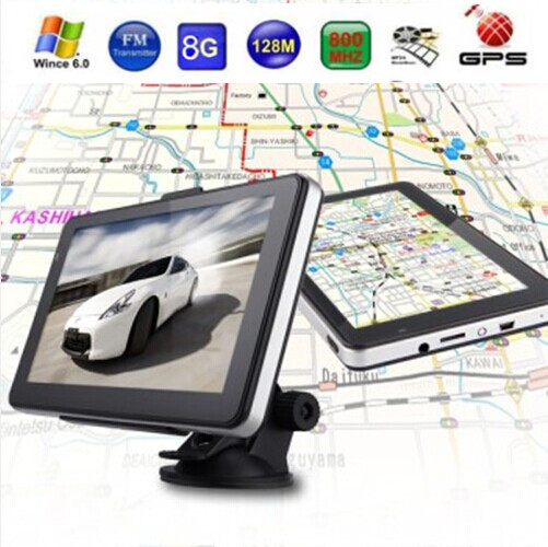 """Car 7"""" Touch Screen GPS Navigation FM 128MB 8GBwith Russia/ Europe /America/Australia map(China (Mainland))"""