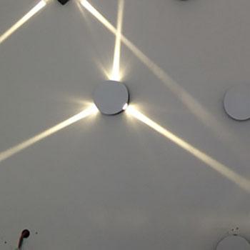 Star Wall Light Bhs : Round three hole LED Cross Star wall lamp bar ktv decorative lights background light effect ...