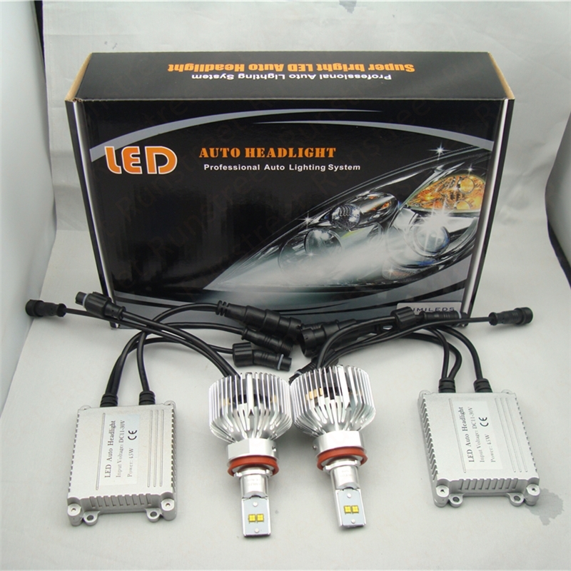 Runstreet(TM) 9005 6000K Super Bright 9000lm Car LED Headlight Fog Light Conversion Kit Lumileds LMZ LED Kit K.O. Xenon HID Kit