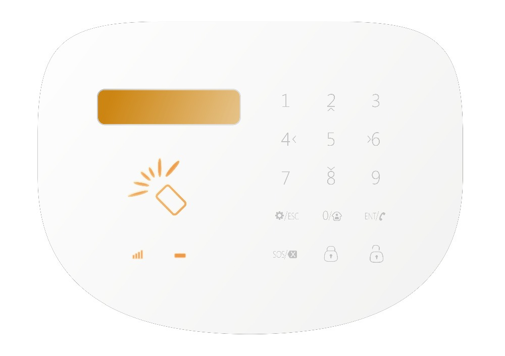 LCD Touch Keypad 433MHZ GSM SMS Wireless Home Security Burglar Alarm System remote control, nice Android/IOS Alarm System<br><br>Aliexpress