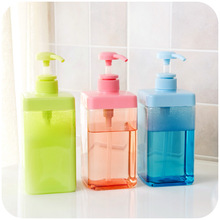 800mL side port type transparent push lotion bottle hand sanitizer shower gel shampoo dispenser bottle points(China (Mainland))