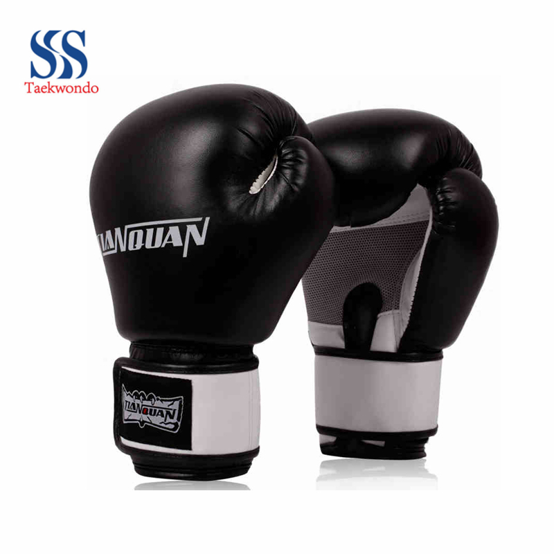 Free shipping quality goods sell like hot cakes boxing gloves/sanda fists/ventilation type / black Red Blue/10 ounces(China (Mainland))