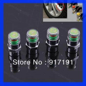 Hot Sale! 4pcs/set Car Tire Pressure Monitor Valve Stem Cap Sensor Indicator Eye Alert Free Shipping