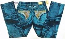 2015 New robin jeans men Slim denim Straight in Jeans cowboy high fashion designer famous brand mens white blue jeans szie 30-42(China (Mainland))