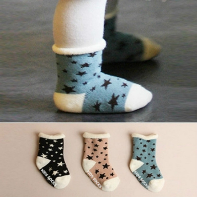 2 шт./лот 2016 новый ребенок носки южной кореи толстые хлопчатобумажные носки детские ...