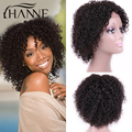 Brazilian Virgin Hair Lace Frontal Curly Wig Natural Black brown Kinky Curly Wigs Glueless Short Human