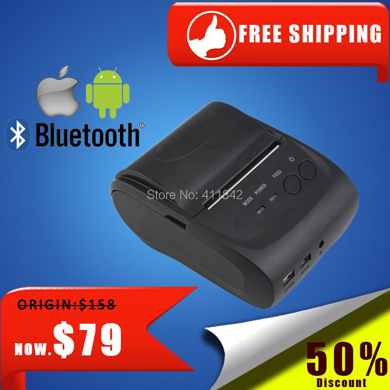 portable bluetooth thermal printer mini 58mm usb receipt printer bluetooth android&ios pos printer mobile printer(China (Mainland))