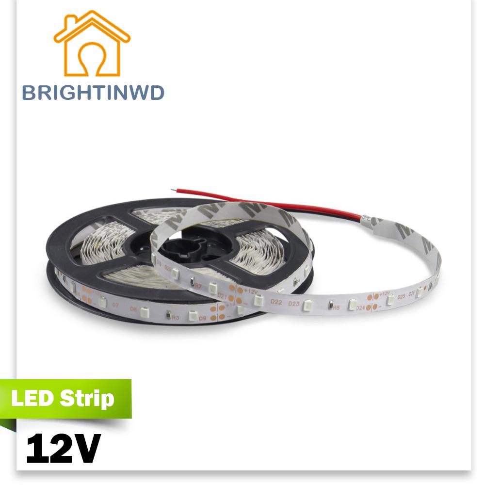 LED Strip 5M SMD3528 12V Monochromatic lights Ambience decorative holiday lights LED light string Bar light Strip LED(China (Mainland))