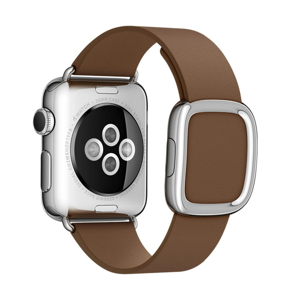 Для Apple Watch Band Современные Пряжка Ремешок для iWatch браслет 38 ММ 42 ММ Гладкий Гранада кожи с двумя кусок магнитного закрытие