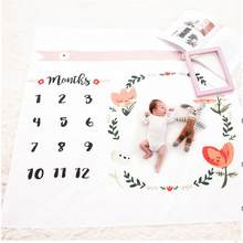 Baby Blanket Newborn Swaddle Stroller Bedding Wrap Photo Background Monthly Growth Number Photography Props Outfits(China)