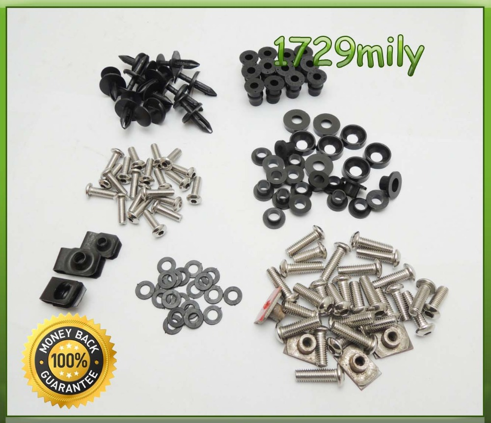 Complete Fairing Bolt nut screw Kit For HONDA CBR600RR CBR 600 2003-2006 03 04 05 06 fairing bolt screw FBTHD001(China (Mainland))