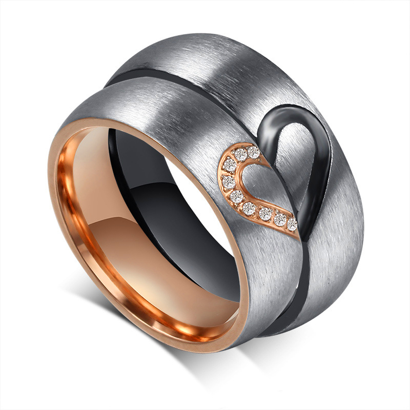 Titanium Heart Ring