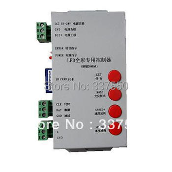 2015 Rgb T-1000,led  Sd Card Pixel Controller,dc5-24v Input,control 2048 Pixels,support for Ic 6803,2801.2811,1903,1909,etc.