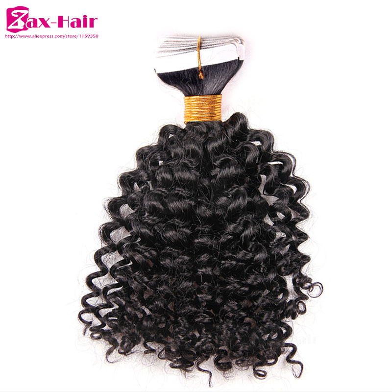 Kinky curly tape hair extensions top quality hair in extension tape Brazilian virgin human hair Skin weft 40pcs 2.5g customized<br><br>Aliexpress