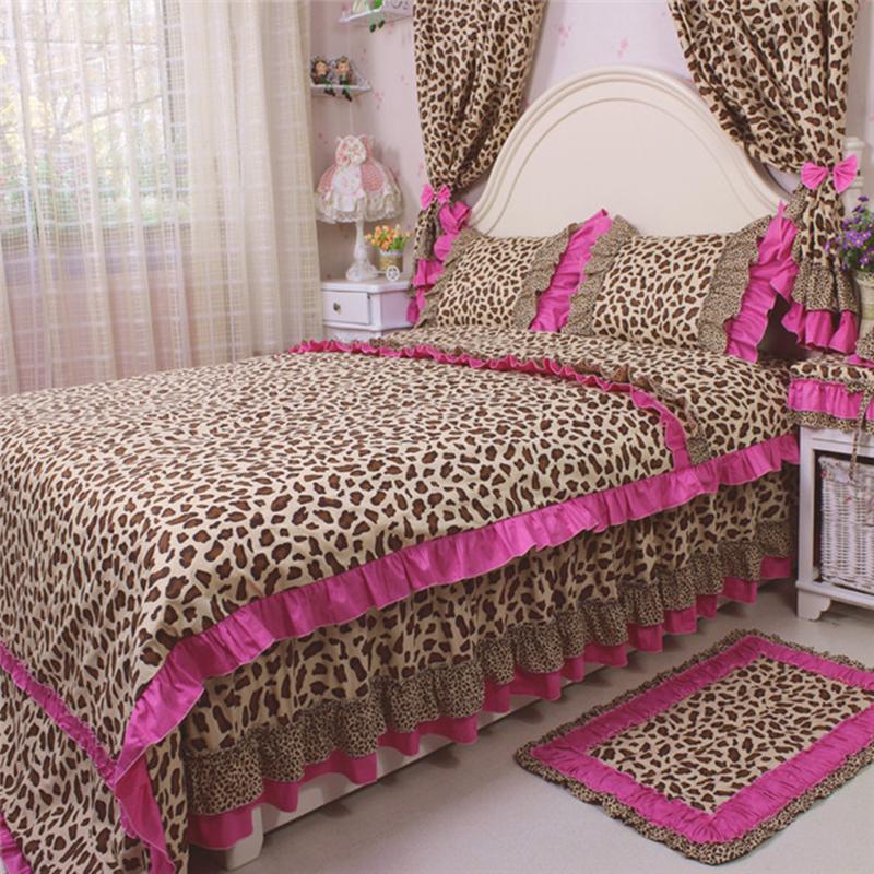 Korean Style Bedding Set Sexy Leopard Print Bedding