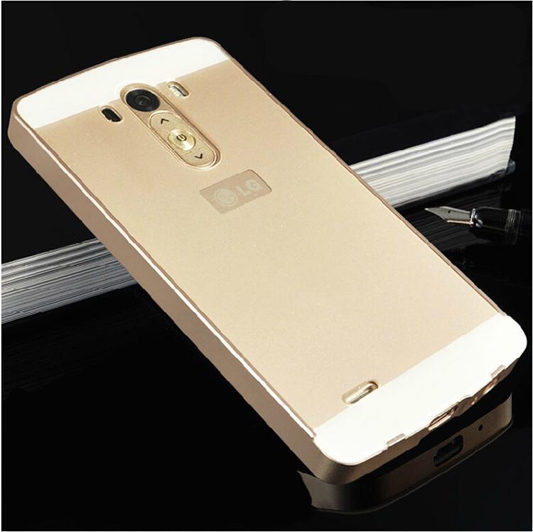 Гаджет  G3 Luxury Ultra thin Aluminum Metal+ Acrylic Glass Back Cover Case for LG G3 D850 Phone bags None Телефоны и Телекоммуникации